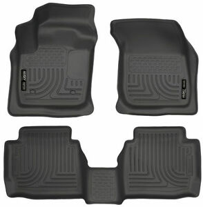 2013 2016 Ford Fusion Lincoln Mkz Black Husky Liners Weatherbeater Floor Mat Set
