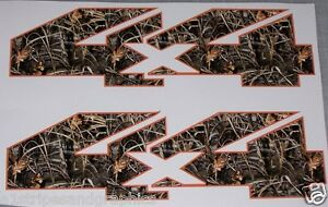 Real Tree M4 Camo Orange 4x4 Bed Side Decal Decals F150 F250 F350 Ram Chevy Gmc