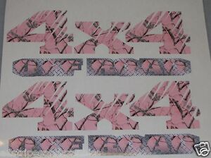 Real Tree Pink Camo 4x4 Off Road 2 Bed Side Decals Decal F150 F250 Ram Chevy
