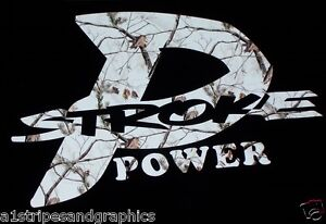 P Stroke Power Real Tree White Camo Decal Decals Sticker Stickers F250 F350 F450