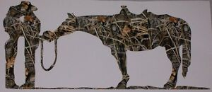 Real Tree M4 Camo Coutry Love Cow Girl Boy Hores Window Decal Sticker Mossy Oak