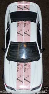 All Year Car Truck Real Tree Pink Camo 10 Rally Stripes Stripe Graphics Decals