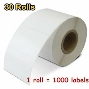 30 Rolls 2 25 x1 25 Direct Thermal Barcode Labels 1000 roll Zebra Lp2844 Lp2824