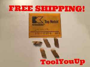 5pcs New Kennametal Nas3 L12 Kc 810 Top Notch Threading Inserts Tool