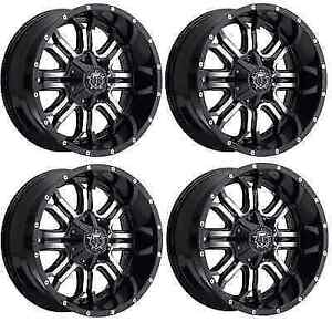 Tis 535mb 2098112 Set Of 4 20x9 Gloss Black W Machined Face 535mb Wheels