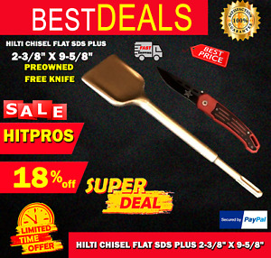 Hilti Chisel Flat Sds Plus 2 3 8 X 9 5 8 Preowned Free Knife Fast Ship