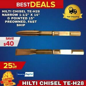 Hilti Chisel Te h28 Narrow 1 1 2 X 14 3 4 Pointed 15 1 4 Preowned Fast Ship
