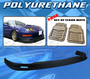 For Acura Integra 98 01 T m Style Front Bumper Lip Body Kit Pu Floor Mat Pair