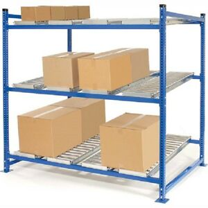New Unex Flow Cell Heavy Duty Gravity Rack 72 w X 48 d X 72 h With 3 Levels