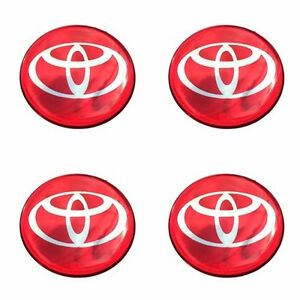 Trd Red Resin Wheel Center Caps Logo Decal Emblem Sticker Badge Vigo Revo 45 Mm