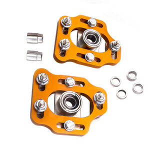 New Pair Camber Plates For Mustang 1979 1989 Front Upper Mount Plate Coil Hat