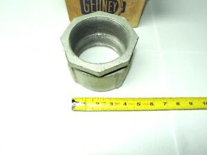 Lot Of 3 Gedney 4 350 3 1 2 Malleable Iron For Rigid Conduit Coupling
