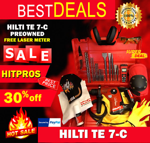 Hilti Te 7 c Preowned Free Laser Meter Bits And Chisels Fast Ship