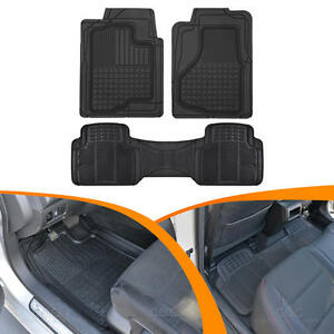 Hd 3d Rubber Car Floor Mats Auto Liners All Weather 3pc Front W Rear Liner Auto