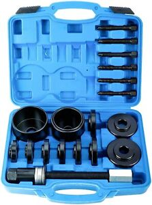 19pcs Set Front Wheel Hub Drive Bearing Puller Removal Install Service Tool Kit