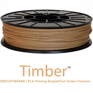 New 3d Stuffmaker Pla 3d Printer Timber Filament 1 75mm 0 60 Kg Brown