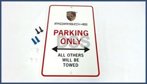 Genuine Porsche Sign porsche Parking Only Product Decal Emblem Pna70100100