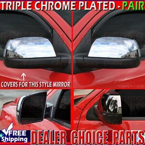 For 2007 2019 Toyota Tundra Chrome Half Mirror Covers Overlays Trims Non Towing