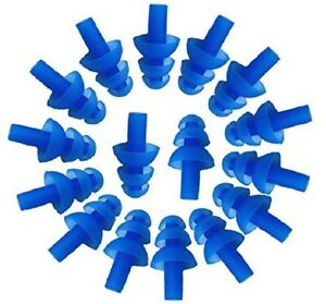 100 Pairs Blue Soft Silicone Earplugs Flexible Ear Plugs For Swimming Sleeping