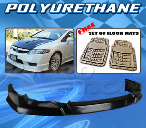 For Honda Civic 09 11 4dr T hfp Front Bumper Lip Dickies Floor Mat Tan