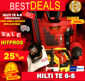 Hilti Te 6 s Preowned Free Angle Grinder Bits Extras Fast Ship