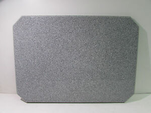 Acrylic In outdoor Restaurant Table Top 28 X 20 X 1 Grey Granite nnb