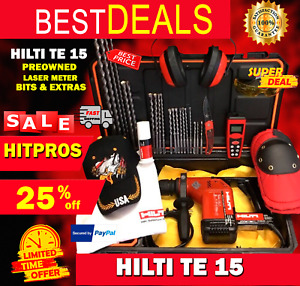 Hilti Te 15 Preowned Free Laser Meter Bits And More Fast Ship