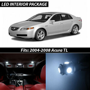 2004 2008 Acura Tl White Interior Led Lights Package Kit