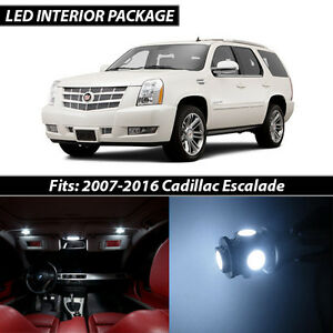 2007 2016 Cadillac Escalade White Interior Led Lights Package Kit