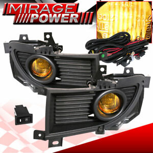 2004 2006 Mitsubishi Lancer Driving Yellow Bumper Fog Lights Replacement Jdm