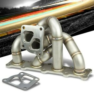 Race Non Polished Td05 Twin Scroll Turbo Manifold For 08 14 Lancer Evolution 10