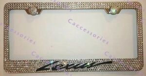 Lexus Cursive Initial Custom Bling Crystal License Plate M w Swarovski Elements