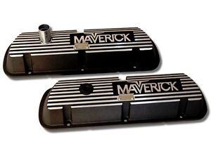 New Ford Maverick 289 302 Valve Covers Aluminum Pair Small Block Only Powered