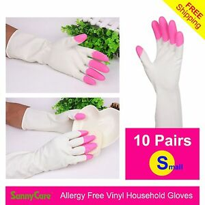 10pairs Heavy Duty Household Cleaning Vinyl Gloves 13 L latex Nitrile Free