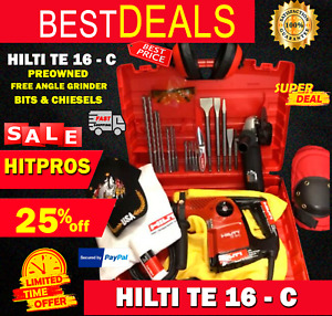 Hilti Te 16 c Preowned Free Angle Grinder Bits And Chisels Fast Ship