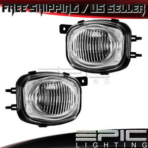 2000 2002 Mitsubishi Eclipse Left Right Pair Driving Fog Lights Clear Lens