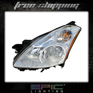 Fits 2010 11 Nissan Altima 4d Headlight Lamp Driver Side Left Only