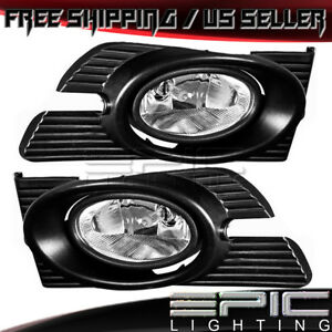 1998 2002 Honda Accord Left Right Pair Performance Driving Fog Lights Clear