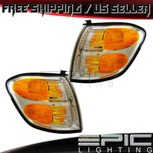 Park Corner Signal Lights For 2000 2004 Toyota Sequoia Tundra Left Right Pair