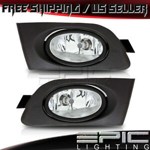 2001 2003 Honda Civic 2 Dr 4 Dr Left Right Pair Driving Fog Lights Clear Lens