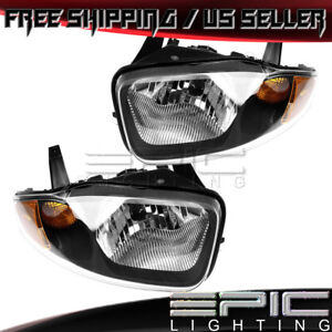 Headlights For 2003 2005 Chevy Chevrolet Cavalier Left Right Sides Pair