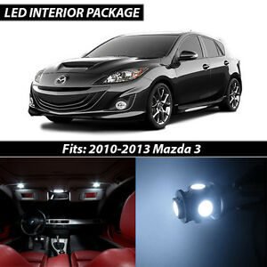 2010 2013 Mazda 3 White Interior Led Lights Package Kit Mazdaspeed 3