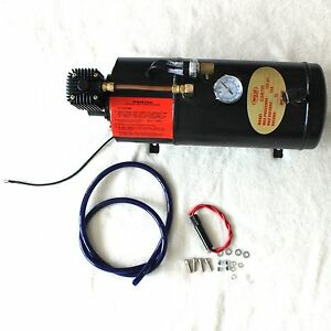 New 150 Psi Air Compressor With 3 Liter Tank For Air Horn Train Truck Rv Pickup