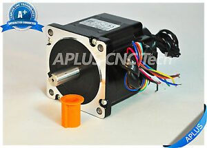 Nema 34 Stepper Motor With Brake 78mm 594oz in 5 6a 8leads