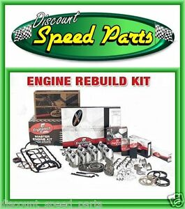 1968 69 Sbc Chevy 327 Engine Rebuild Kit Flat Tops Dr Timing Chain Hv Oil Pump