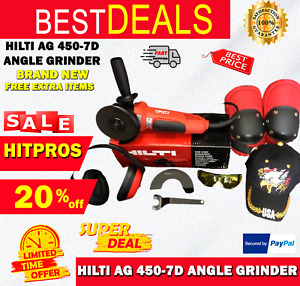 Hilti Ag 450 7d Angle Grinder Brand New Free Extra Items Fast Ship
