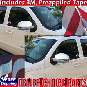 2007 2013 Chevy Silverado Lower Chrome Mirror Covers With Puddle Light Hole