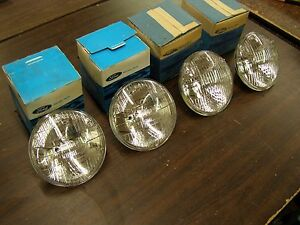 Nos 1958 1973 Ford Headlight Set Fairlane Torino Galaxie 1966 1967 1968 1969