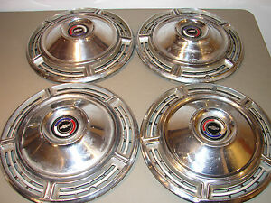 Set Of 4 Chevrolet Chevelle 14 Hubcaps 1968 Wheel Covers Chevy