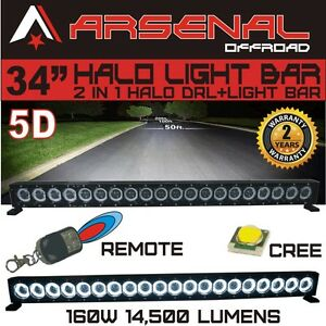 34 5d Halo Led Light Bar By Arsenal Offroad Halo Drl Super Spot cree 10w Led
